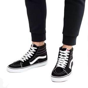 Vans Black & White Suede Sk8-Hi Skateboard Shoes